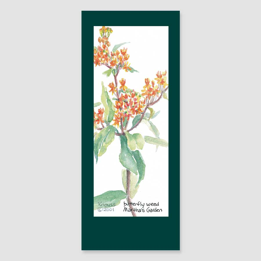 157BMC butterfly weed bookmark card