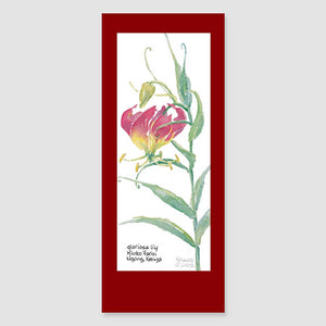 169BMC gloriosa lily bookmark card