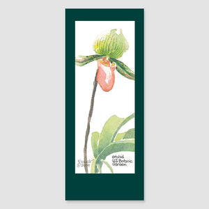 181BMC orchid bookmark card