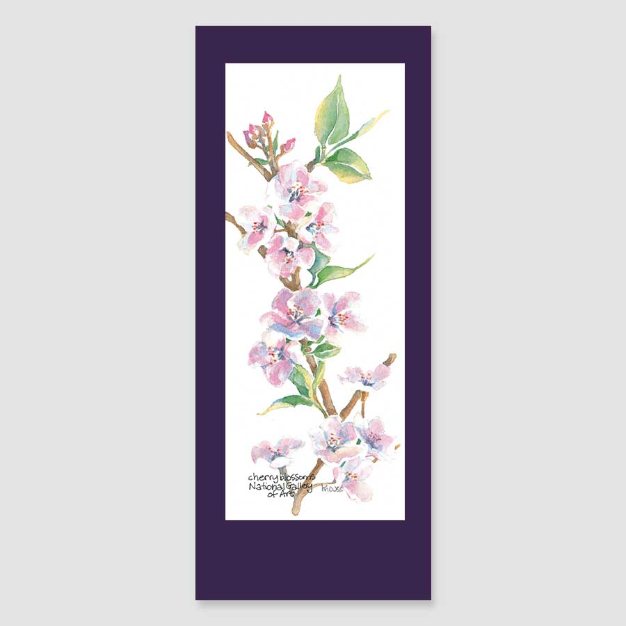 183BMC cherry blossoms bookmark card