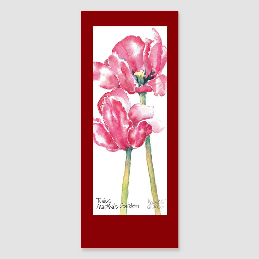 184BMC tulips bookmark card