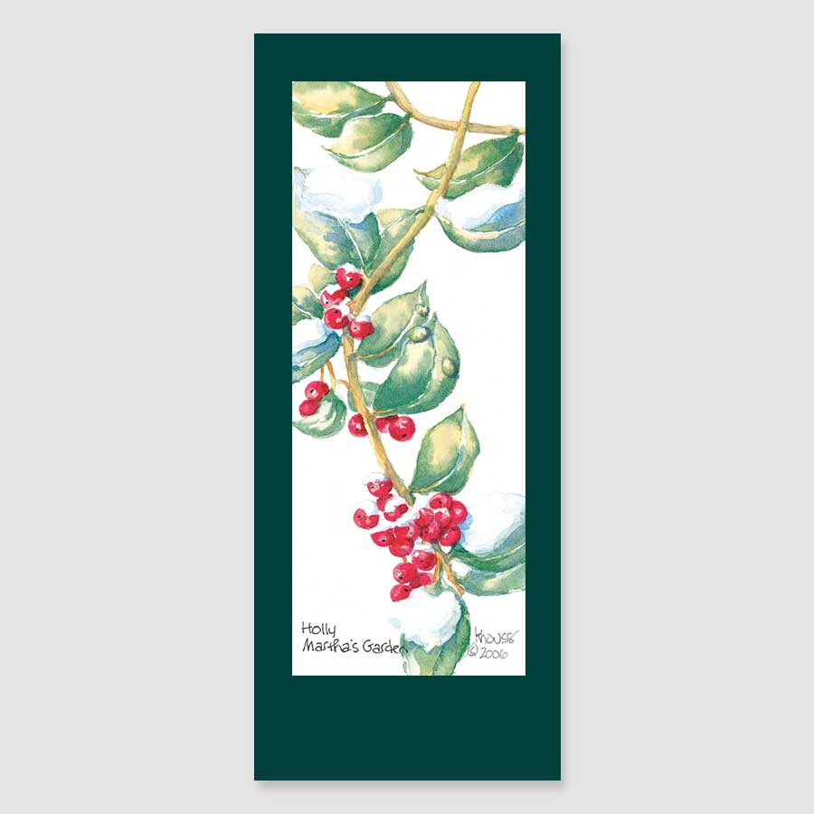 188BMC holly bookmark card