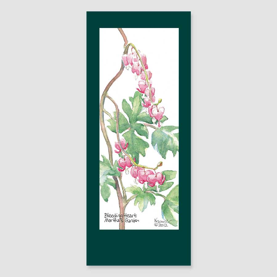 197BMC bleeding heart bookmark card