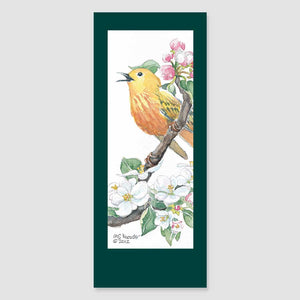 199BMC warbler bookmark card