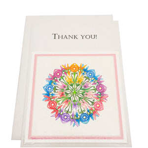 Color & Gold - Ornamental limited edition gold gilded Thank You card