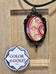 Color & Gold Peppermint Spiral necklace