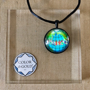 Color & Gold Diversity Earth necklace