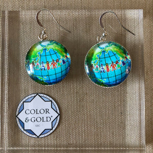 Color & Gold Diversity Earth earrings