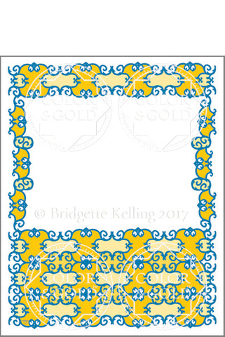"8""x10"" Curl Sun Border - Color & Gold LLC © Bridgette Kelling"