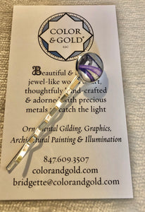 Color & Gold L. B. Purple Ring Hair Clip