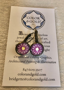 Color & Gold Returning Meadow Pink Earrings
