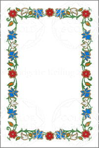 "4""x6"" Enamel Wreath Border - Color & Gold LLC © Bridgette Kelling"