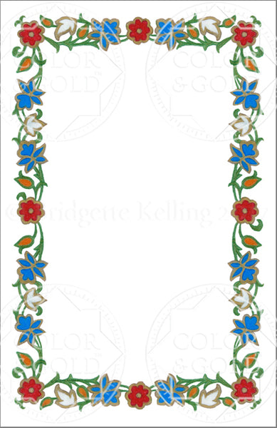 "5.5""x8.5"" Enamel Wreath Border - Color & Gold LLC © Bridgette Kelling"