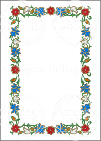 "5""x7"" Enamel Wreath Border - Color & Gold LLC © Bridgette Kelling"