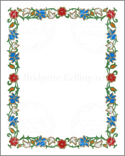 "8""x10"" Enamel Wreath Border - Color & Gold LLC © Bridgette Kelling"