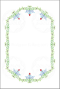 "4""x6"" Hearts & Vines Border - Color & Gold LLC © Bridgette Kelling"