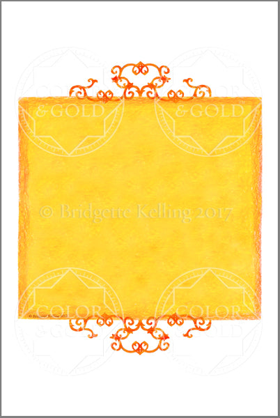 "4""x6"" Honey Sun Border - Color & Gold LLC © Bridgette Kelling"