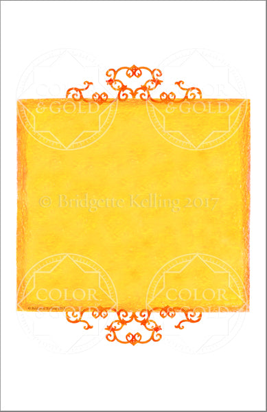 "5.5""x8.5"" Honey Sun Border - Color & Gold LLC © Bridgette Kelling"