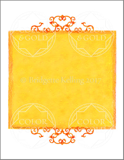 "8.5""x11"" Honey Sun Border - Color & Gold LLC © Bridgette Kelling"