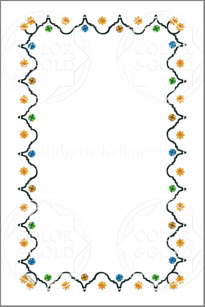 "4""x6"" Lights Border - Color & Gold LLC © Bridgette Kelling"