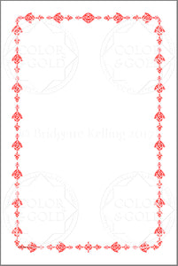 Stencil Red Border