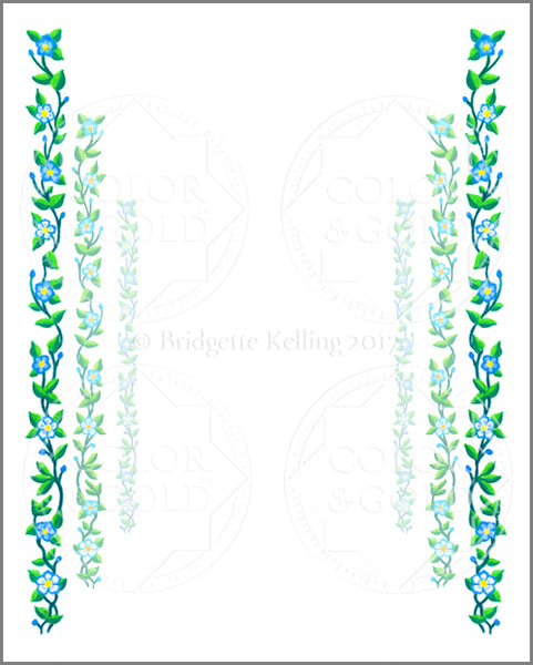 "8""x10"" Vine Path Border - Color & Gold LLC © Bridgette Kelling"