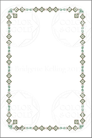 "4""x6"" Branch Green Border - Color & Gold LLC © Bridgette Kelling"
