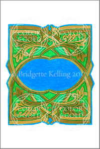 "4""x6"" Woven Grass Border - Color & Gold LLC © Bridgette Kelling"