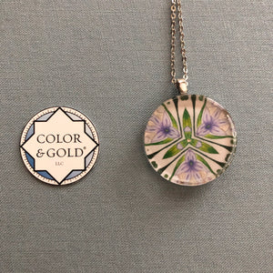 Color & Gold Returning Meadow purple flower necklace