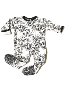 Floral Footie Sleeper