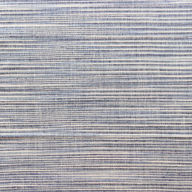 Light blue, navy and cream horizontal stripe textile by Kufri LIfe