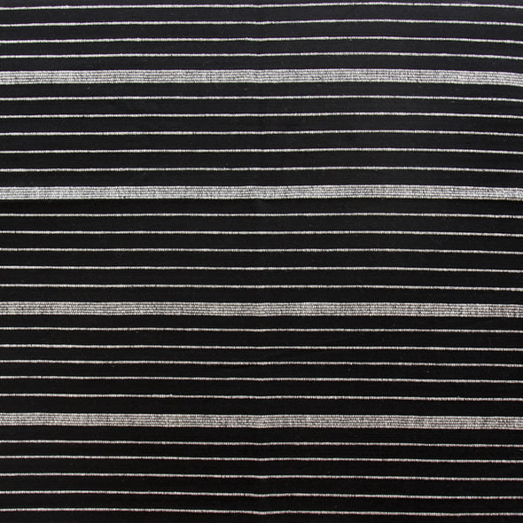 Black and natural horizontal stripe textile by Kufri Life
