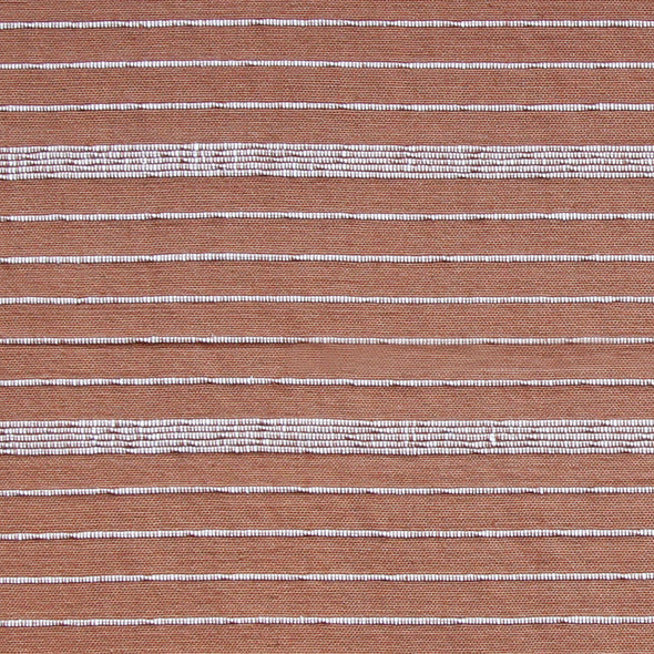 Brick red and natural horizontal stripe pattern by Kufri Life