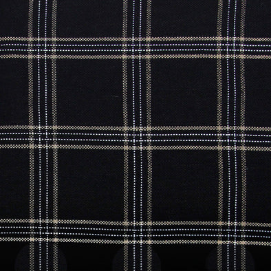 Black and natural checkered textile by KUFRI