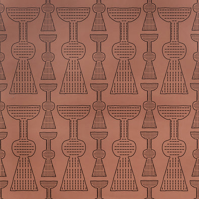 Girardo pattern wallpaper in Terracotta by KUFRI