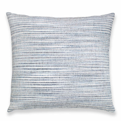 Blue and white horizontal stripe pillow by Kufri Life