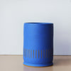 Cobalt blue ceramic candle by Kufri Life
