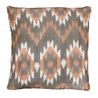 White, grey and orange Camac pillow by Kufri Life