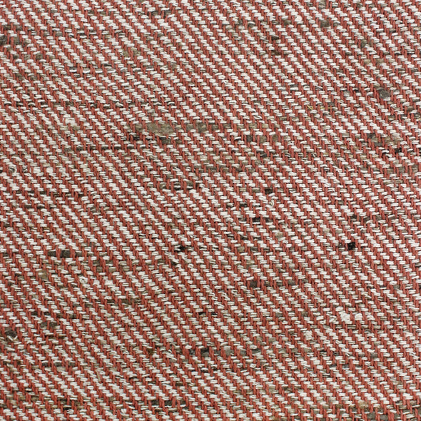 Brick red and natural diagonal striped textile by Kufri Life