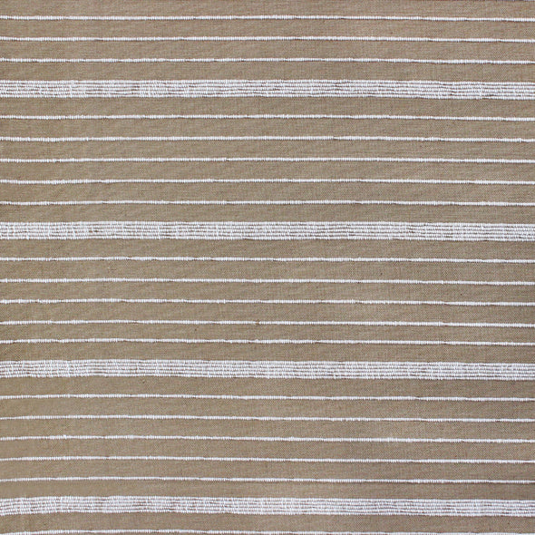 Sand and natural horizontal stripe textile by Kufri Life
