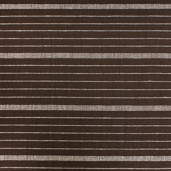 Chocolate and natural horizontal stripe textile by Kufri Life