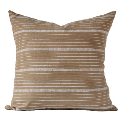 Pillow by Kufri Life using Cusco Stripe textile in Sand