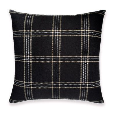 Black and sand Dundee pillow by KUFRI