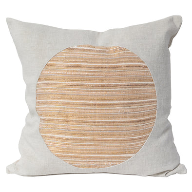 Epoch pillow in gold and flax