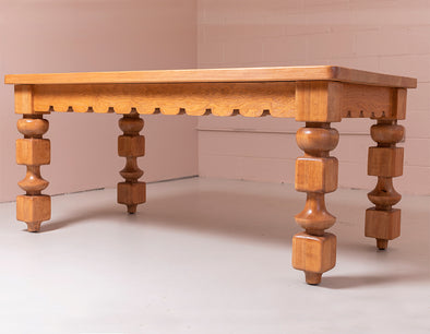 Wooden table with abstract shaped legs