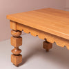 Wooden table with decorative legs by KUFRI