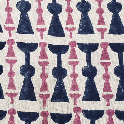 Navy and purple Girardo pattern wallpaper by KUFRI