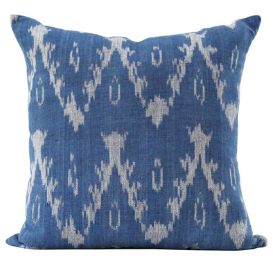 Ira pattern pillow in Americana blue