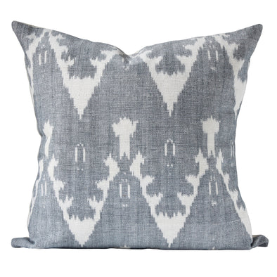 Ira in Dove ikat print pillow by KUFRI