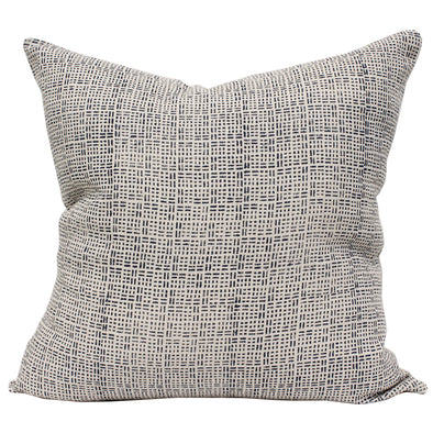 Jemez blockprint textile pillow in Night